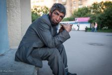 Homeless Azeri Man