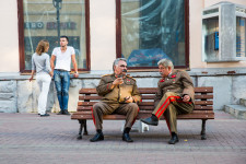 Stalin Chatting with Stalin