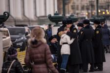 Russian Solider Bids Farewell to Girlfriend