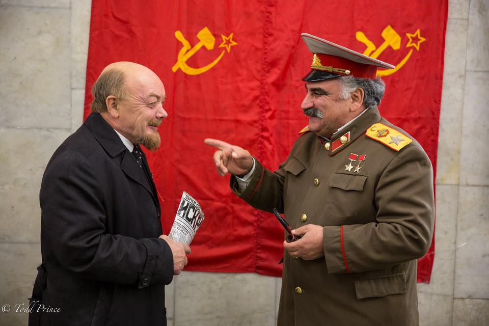 Stalin Jokes with Lenin