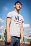 Wrestler in USA Shirt