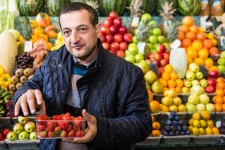 Azeri Fruit Seller in Moscow