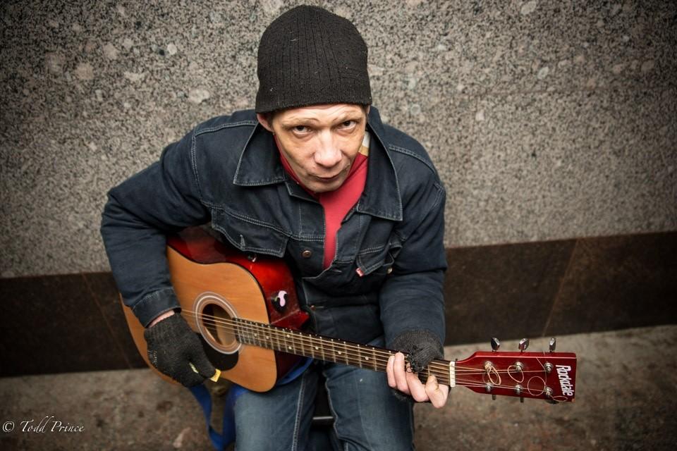 Dima: Street Musician in Underpass (2)