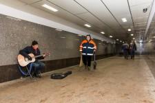 Dima- Street Musician in Underpass