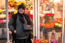 Georgian Flower Seller in Moscow