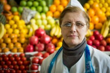 Georgian Fruit Seller in Moscow