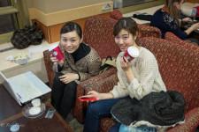 Japanese Ballerinas at Starbucks