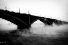 The Yenisei River giving off steam in -20c