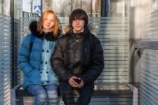 Polina & Vita- Testing New Bus Stop