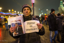 He said he was going to stand all night on the bridge where Boris Nemtsov was killed.