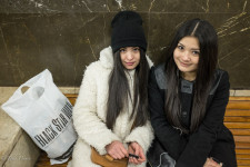 Kyrgyz Sisters in Moscow Metro