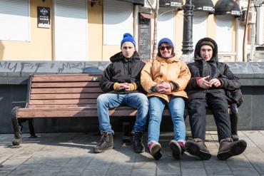 Musicians Chillin' in Vladivostok