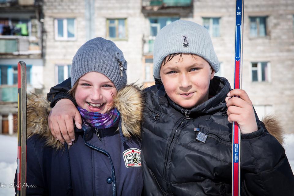 Sakhalin Youth Playing Hockey