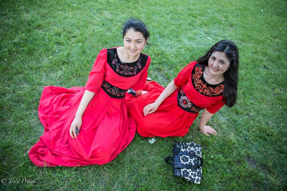 Kyrgyz Sisters Relaxing in Moscow