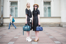 Anna and Anastasia, 20, were walking along Nevsky Prospect.