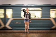 Vika, a university student, wants to work on Moscow Metro construction projects in the future.