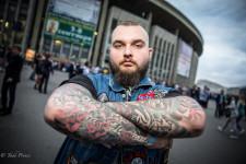 Dima outside the Metallica concert.