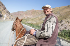 An ethnic Russian shepherd in Kyrgyzstan.