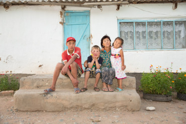 Kyrgyz Village Family