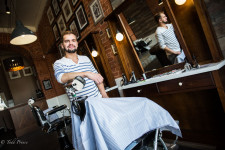 Valery is a barber in Nizhny Novgorod.