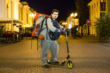 Vsevolod: Backpacker on Scooter