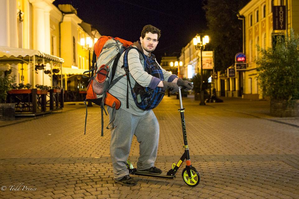 Vsevolod: Backpacker on Scooter