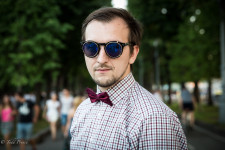 Sergei, 25, said his friends jokingly call him 'The Pastor' because he usually wears black.