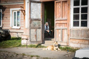 Babushka on Solovki Island