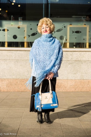 Fashionable Pensioner in Moscow