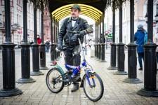Rinat on his bike