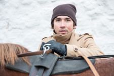 Rakhim with his horse carriage outside the Kazan Kremlin.