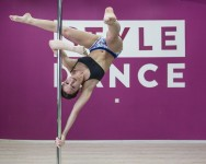Ksenia at her pole dancing class.