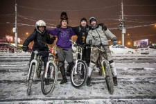 Stanislav (2nd right) with bicycling friends.