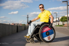 Igor makes wheel chairs for active people.