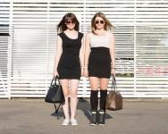 Alina, 21, and Polina, 20, were walking at Moscow's Gorky Park.