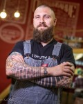 Kirill has been a barber for 12 years.