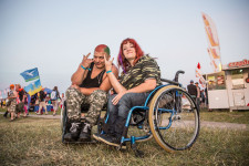 These two visitors to the Rock festival outside Moscow said they drove in their own cars.