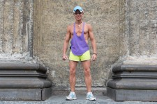 Sergei works as a fitness trainer in Moscow.