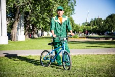 Ismail works at a park in Moscow.