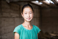 Kyrgyz High School Student