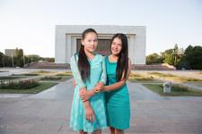 Kyrgyz high school friends