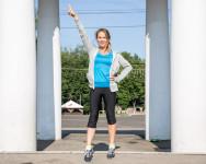 Olga after her morning workout.
