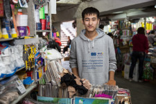 Myrzabek is a volunteer in an NGO that aims to stop ethnic divides in Kyrgyzstan.