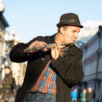 Dmitry plays on Arbat in his free time.