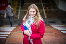 Alyona is double majoring in economics and teaching