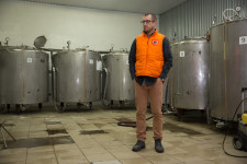 Dima at his beer making facility on the outskirts of Kazan.