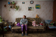 Russian village mother