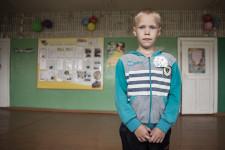 Russian village pupil