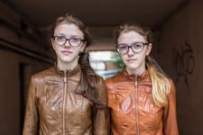 Twins Katya and Dasha